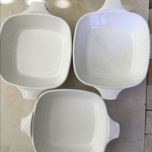 Corning Ware three total Petite Pans